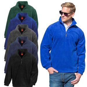 Result Mens Fleece Jacket 1/4 Zip Up Heavy Outdoor Warm Polar Anti Pil Work wear