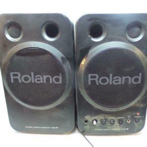 Roland MA-8BK Stereo Micro Monitor Speakers Black 9 Inch High