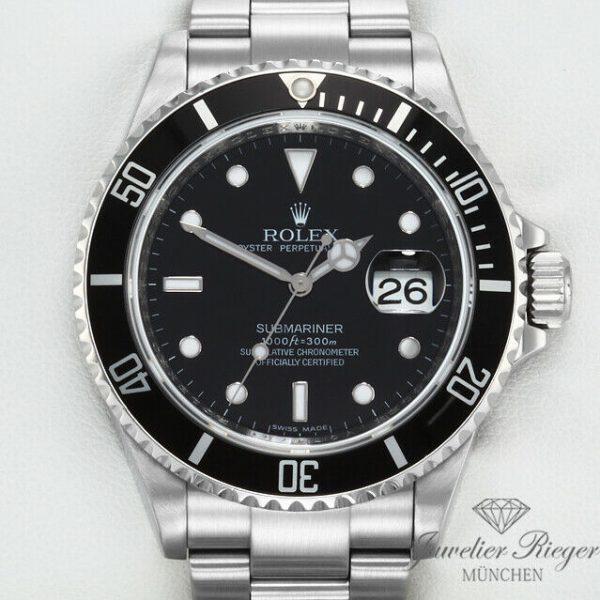 Rolex Submariner Date 16610 T Stahl Automatik Rehaut 2009 Taucheruhr Edelstahl