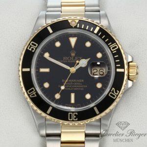 Rolex Submariner Date 16803 Stahl Gelbgold 750 Automatik Taucheruhr Gold