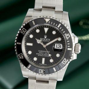 Rolex Submariner Date Automatik Stahl Herrenuhr Oyster Ref 116610 Full Set LC100