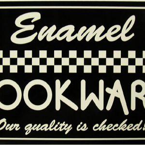 Rustic/Vintage Enamel Cookware Kitchen Home Appliances Tin Metal Sign