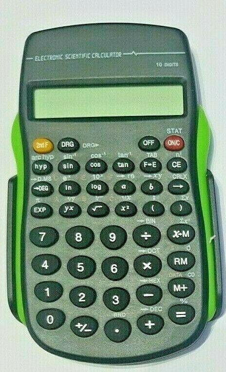 SCIENTIFIC CALCULATOR 10 DIGITS ELECTRONIC OFFICE  SCHOOL EXAMS GCSE WORK OFFICE