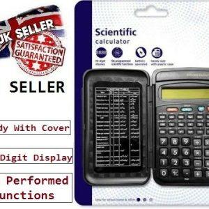 SCIENTIFIC CALCULATOR ELECTRONIC 10 DIGITS SCHOOL EXAMS 56 function WORK OFFICE