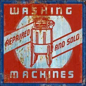 Sam Appleman: Washing Machines Keilrahmen-Bild Leinwand Werbung Fifties