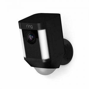 Security Camera with LED Spotlight, Alarm,