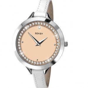 Seksy Ladies Leather Strap Watch   2155-SNP