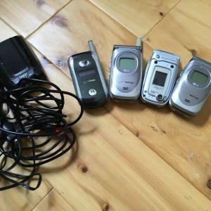 Set Of 4 Vintage Cell Phones Verizon/Cingular Untested