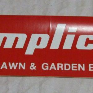 Simplicity Powered Lawn  & Garden Equipment Large Decal Sticker 17''x 5''