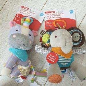 Skip Hop Bandana Buddies Activity Soft Toy - Age 0+ Baby - Unicorn and elephant