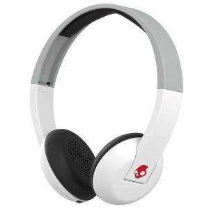 Skullcandy Uproar Bluetooth Wireless On-Ear Headphones - White/Grey