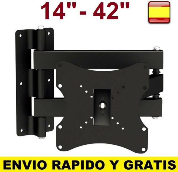 "Soporte de pared para tv LCD LED Plasma 14"" A 42"" SMART 4K Giratorio Inclinable"