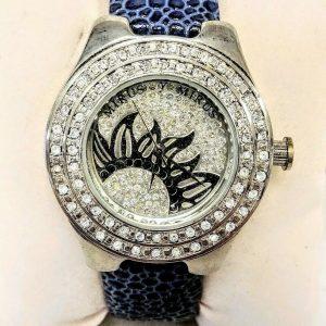 Stunning Mirus Designer Crystal Leather Fashion Watch - Model M9027, NEW w/Box