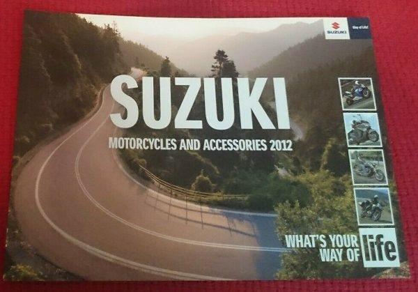 Suzuki . Motorcycles and Accessories 2012 . November 2011 Sales Brochure