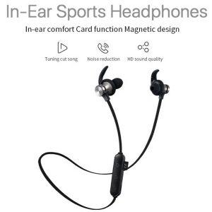 Sweatproof Wireless Bluetooth4.2 Earphones Headphones Sport Gym TF Card XT22