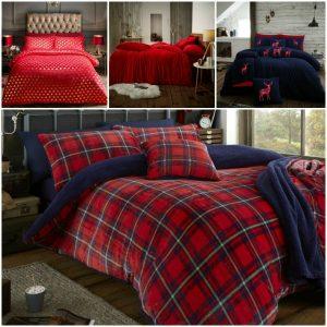 TEDDY BEAR BEDDING Fleece Duvet Cover Set Pillow Case Ultra Soft Red Bed Set