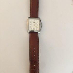 TIMEX WATCH,leather Strap,WR 50m