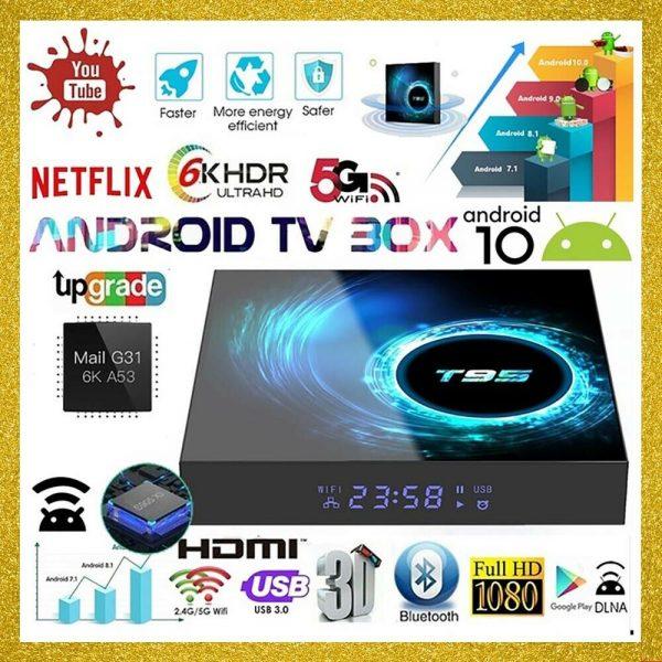 TV BOX 6K T95 2/4GB + 16/32/64GB ANDROID 10.0 4K WIFI Quad Core Allwinner Smart