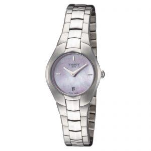 Tissot Women's T0960091115100 T-Collection 25.9mm Pink MOP Dial SS Watch