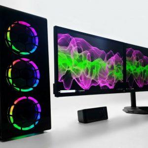 Triple Monitors Gaming RGB PC SET i5 16 GB 480 GB SSD 2TB HDD RTX 2060