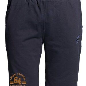 Übergrößen ! Sweat Short AHORN SPORTWEAR dark blue Athl. Corp. orange