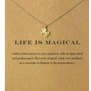 Unicorn Gold Necklace Luck Jewelry Fashion Magic