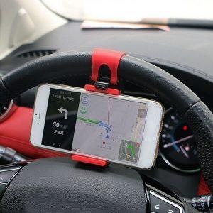 Universal Accessories Car Steering Wheel Mobile Cell Phone Holder GPS Bracket