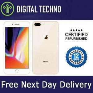 Unlocked Apple iPhone 8 - Gold 64GB - Phone Network & Sim Free - Warranty