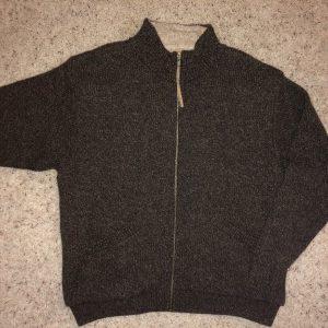 VTG Woolrich Wool Rugged Outdoor Wear Fleece Lined Full Zip Sweater Jacket XL