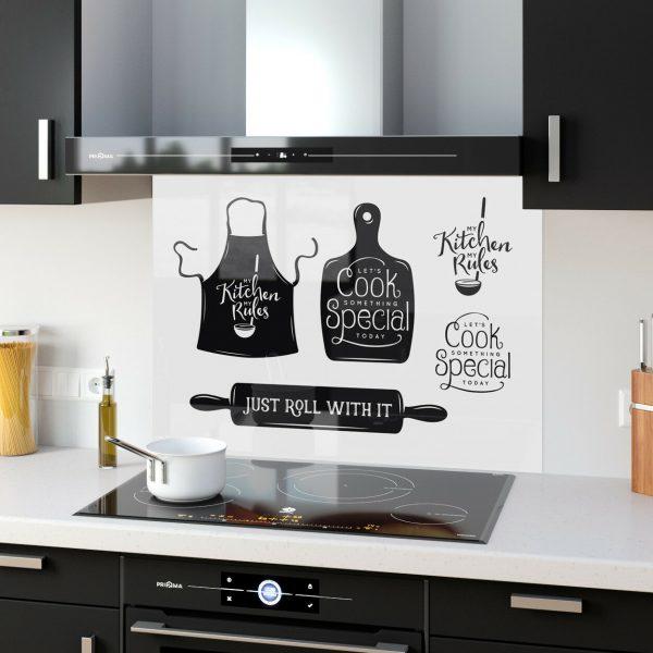 Various Designs Colours Sizes Vector Graphics Toughened Glass Kitchen Splashback