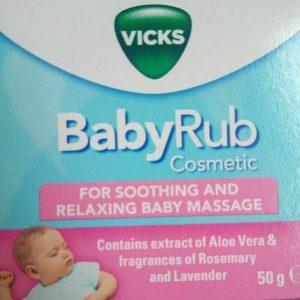 Vicks baby rub Baby Massage