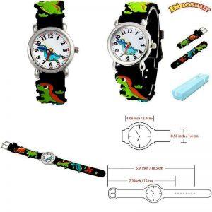 Vinmori Kid'S Watch,3D Cartoon Pattern Silicone Band Waterproof Quartz Watch Gif
