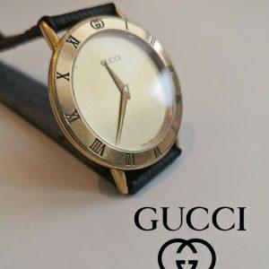 Vintage Watch GUCCI 3000.2.M GOLD ancienne Montre Reloj orologio UHR 34mm