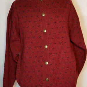 WOOLRICH Rugged Outdoor Wear Wool Sweater Sz L, Made in Hong Kong, Burgundy