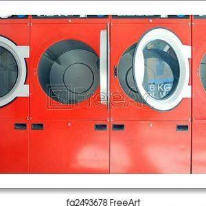 Washing Machines In Art Print / Canvas Print. Poster, Wall Art, Home Decor - E