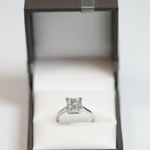 White Gold and Modern Diamond Dress Ring