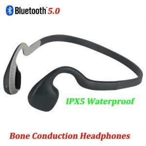Wireless BT 5.0 Bone Conduction Headphones Open Ear Headset Sport IPX5 Earphone
