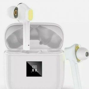 Wireless Headphones, Bluetooth 5.0 Wireless Earphones with 4 Microphones Dual-Dr