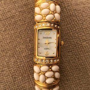 Women's Joan Rivers Classics Watch - Gold Tone / White