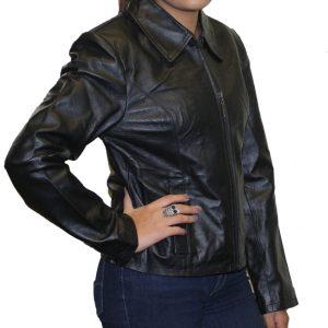 Women's Short Zipper Soft Leather Fashion Jacket  BEST PRICE Sytle #566