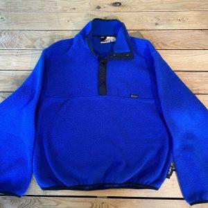Woolrich Original Outdoor Wear Vintage Mens M Fleece Pullover Jacket Blue E7
