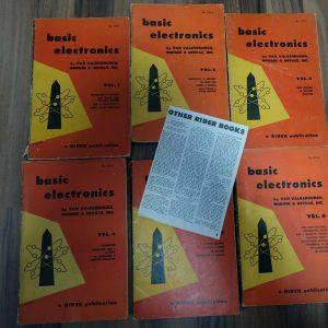 basic electronics / 6 Bände / Röhre und Halbleiter von 1955 / Rarität !