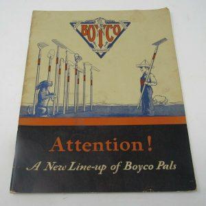 c1935 Boyco Garden Outdoor Tools Equipment Catalog Grills Wheelbarrows Stands