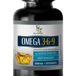 eye health care products - OMEGA 3-6-9 - heart health capsules 1 BOTTLE