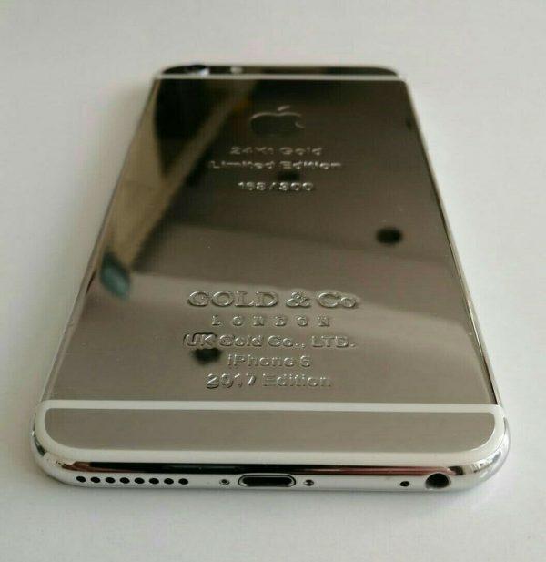 iPhone 6 Plus 24kt Platinum plated  64GB Custom (Unlocked) World Phone A1524