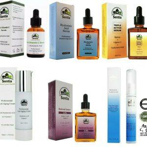 Best Anti Aging Face Serums Creams & Eye Gel Treatments. Sentia Beauty Products