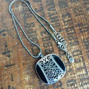 Brighton silver & gold reversible pendant necklace