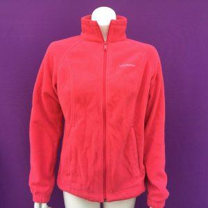 COLUMBIA women's fashion orange red fleece jacket size--S