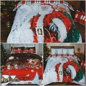 Christmas Xmas Duvet Cover Santa UK Bedding Set Pillow Cases All Sizes New Range