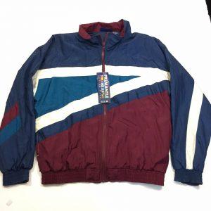 Fremantle Windbreaker Jacket Sports Wear Track Mens M NWT Maroon & Blue